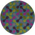 rug #692905 | round blue-green rug