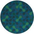 rug #692921 | round blue circles rug