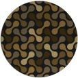 rug #692957 | round black retro rug
