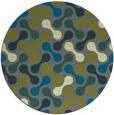 rug #692969 | round green circles rug