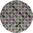 rug #693021   round purple circles rug