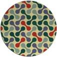 rug #693045 | round yellow retro rug