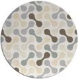 rug #693125 | round beige rug