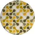 rug #693129   round yellow retro rug
