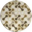 rug #693133 | round yellow circles rug
