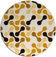 rug #693137 | round brown retro rug