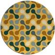 rug #693145 | round yellow retro rug