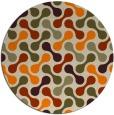 rug #693157 | round orange circles rug