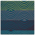 rug #695365 | square green abstract rug