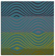 rug #695369 | square blue-green stripes rug