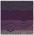 rug #695413 | square blue-violet retro rug