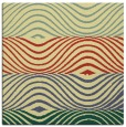 rug #695509 | square yellow stripes rug