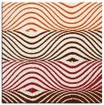 rug #695573 | square red-orange retro rug