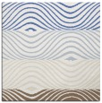 rug #695585   square white stripes rug