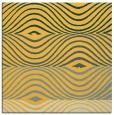 rug #695609 | square yellow retro rug