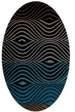 rug #695673 | oval brown stripes rug
