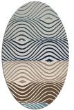 rug #695681 | oval white retro rug