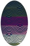 rug #695693 | oval blue abstract rug