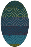rug #695717 | oval blue-green abstract rug