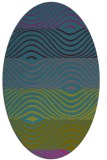 rug #695721 | oval blue-green abstract rug