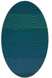 rug #695737 | oval blue-green abstract rug