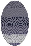 rug #695745   oval blue-violet stripes rug