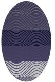 rug #695746 | oval retro rug