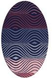 rug #695749 | oval blue-violet rug