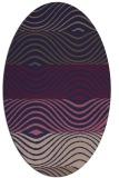 rug #695765 | oval blue-violet popular rug