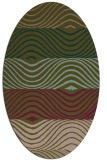 rug #695777 | oval brown retro rug