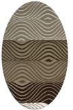 rug #695797 | oval white stripes rug