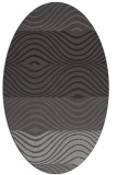 rug #695805 | oval brown stripes rug