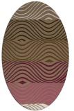 rug #695809 | oval mid-brown stripes rug