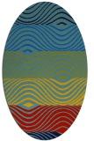 rug #695827 | oval abstract rug