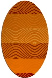 rug #695845 | oval orange stripes rug