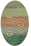 rug #695861 | oval yellow abstract rug