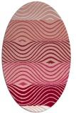 rug #695877 | oval white stripes rug