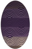 rug #695889   oval purple retro rug