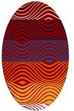 rug #695897 | oval red rug