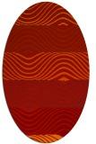 rug #695901 | oval red stripes rug