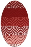 rug #695905 | oval red stripes rug