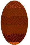 rug #695913 | oval red-orange rug