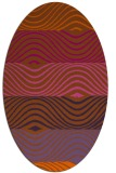 rug #695921 | oval red-orange abstract rug