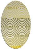 rug #695933 | oval white stripes rug