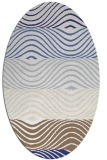 rug #695937 | oval white abstract rug