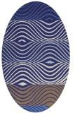 rug #695940 | oval stripes rug