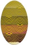rug #695957   oval white stripes rug