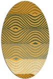 rug #695961 | oval yellow abstract rug