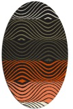 rug #695965   oval black retro rug