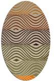 rug #695973 | oval orange retro rug